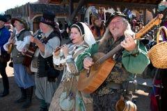 Musiciens de festival de la Renaissance de l'Arizona Image libre de droits