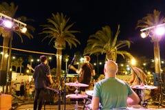 Musiciens de roche de rue photographie stock libre de droits