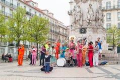 Musiciens de rue à Lisbonne Photo stock