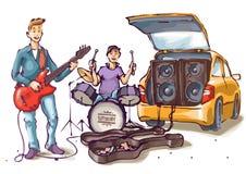 Musiciens de rue illustration stock