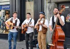 Musiciens de rue dans Galway Photographie stock libre de droits