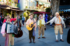 Musiciens Disneyland de pirate Photo libre de droits
