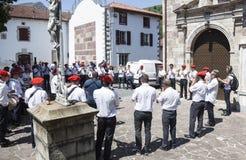 Musiciens et danseurs Basques Photo libre de droits