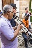 Musiciens jouant La Havane Images libres de droits