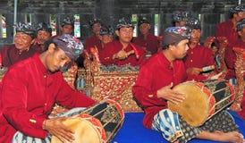Musiciens sur l'île de bali photos stock