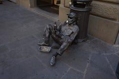 Musicista ambulante a Firenze Fotografia Stock Libera da Diritti