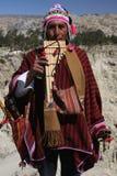 Musicista boliviano Immagini Stock