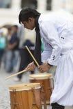 Musicista che esegue per l'apertura del Salta, Argentina di carnevale Fotografia Stock