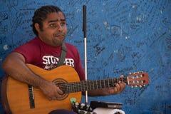 Musicista cieco Immagini Stock Libere da Diritti