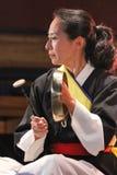 Musicista coreano giocatore di kkwaenggwari Fotografia Stock Libera da Diritti