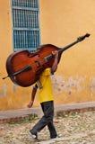 Musicista cubano Immagine Stock