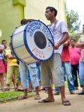 Musicista dalla banda della tromba in Serbia Festival della tromba di Guca Fotografie Stock Libere da Diritti