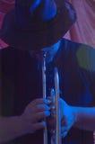 Musicista degli azzurri   Fotografie Stock