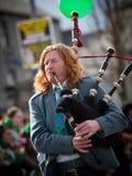 Musicista dei Bagpipes Fotografie Stock Libere da Diritti