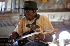 Musicista dei blu, Mississippi Fotografie Stock