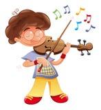 Musicista del bambino Immagine Stock