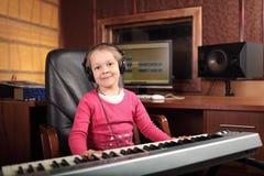 Musicista del bambino Fotografia Stock Libera da Diritti