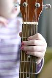 Musicista del bambino Fotografia Stock
