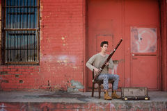 Musicista del Bassoon Fotografia Stock