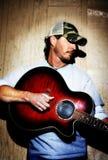 Musicista del paese del Texas Fotografia Stock Libera da Diritti