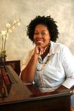 Musicista dell'afroamericano Immagini Stock Libere da Diritti