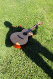 Musicista dell'ombra Fotografia Stock Libera da Diritti