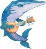 Musicista della balena di vettore Immagine Stock
