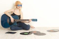 Musicista della ragazza fotografia stock