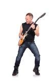 Musicista della roccia Immagine Stock Libera da Diritti