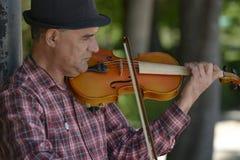 Musicista della via Fotografie Stock