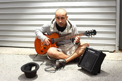 Musicista della via Fotografia Stock Libera da Diritti
