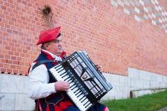 Musicista della via della Polonia Fotografie Stock Libere da Diritti