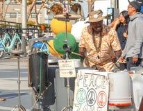 Musicista della via a San Francisco Fotografia Stock