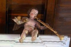 Musicista di angelo Immagini Stock