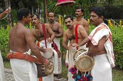 Musicista di cerimonia nuziale, Kerala India Immagine Stock Libera da Diritti