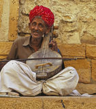 Musicista di Rajasthani Fotografia Stock Libera da Diritti