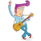 Musicista di vecchio modo illustrazione di stock