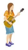 Musicista femminile - chitarra Fotografia Stock