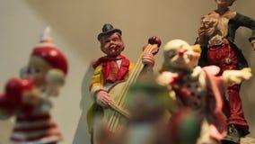Musicista Figurines del pagliaccio archivi video