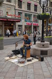 Musicista a Ginevra Fotografia Stock Libera da Diritti