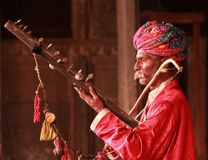 Musicista indiano Fotografie Stock