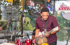 Musicista Jakerus Singleton dei blu Immagini Stock Libere da Diritti