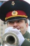 Musicista militare Immagine Stock