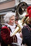 Musicista nella parata di carnevale Fotografia Stock Libera da Diritti