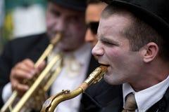 Musicista nella via Fotografia Stock