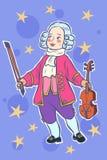 Musicista piccolo mozart del violinista del bambino royalty illustrazione gratis