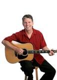 Musicista piega Relaxed Fotografia Stock