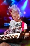 Musicista punk immagine stock libera da diritti