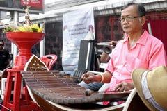 Musicista tailandese della via Immagini Stock