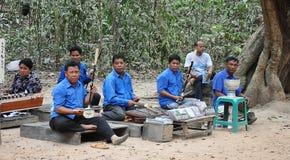 Musicisti ambulanti Cambogia Fotografia Stock Libera da Diritti